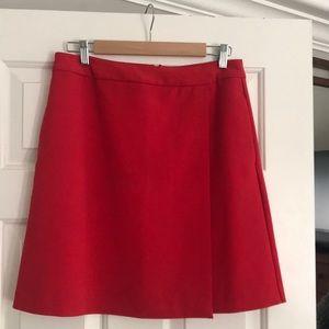 Halogen red A-line skirt